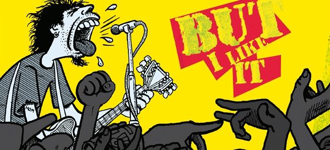 BD reportage bourré d'humour dans les coulisses du rock !