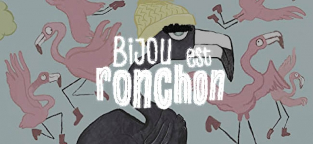 Bijou est un flamand rose, noir.