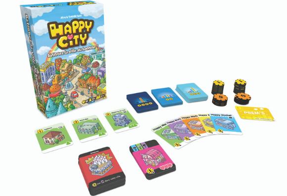 Le plateau complet de Happy City