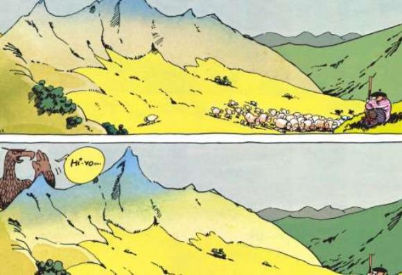Le troupeau de moutons le plus fou de l'histoire a été dessiné par F'murr