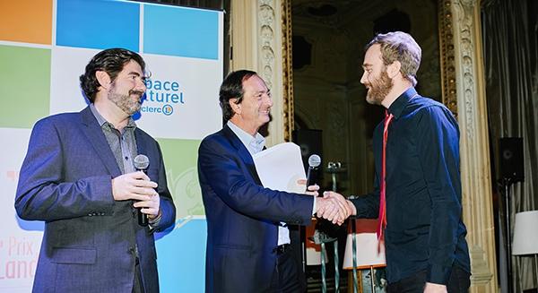 Remise du Prix 2017 De gauche à droite : Juanjo Guarnido, Michel-Edouard Leclerc et Philippe Valette