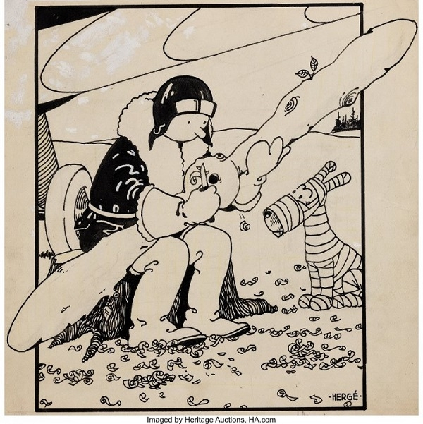 La toute Première Couverture Tintin -- The Very First Published Tintin Cover.