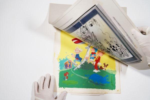 L'œuvre d'art a été créée par Franquin en 1964-65 et les experts l'évaluent à 120 000 euros.