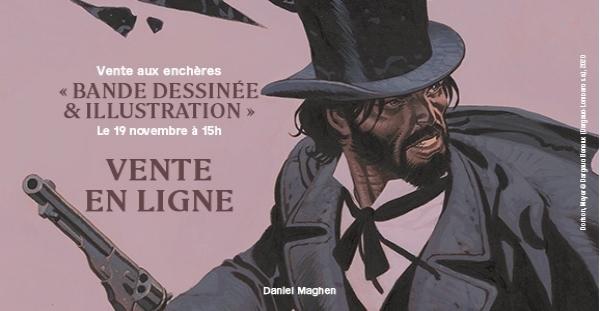 2ème enchère de Daniel Maghen Enchères et Expertises organise sa deuxième vente aux enchères bande dessinée et illustration le jeudi 19 novembre prochain à 15 heures
