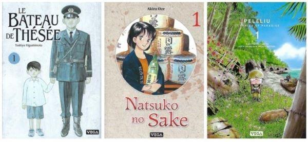 Le bateau de Thésée, Natsuko No Sake et Pelelui sont des mangas références de Vega