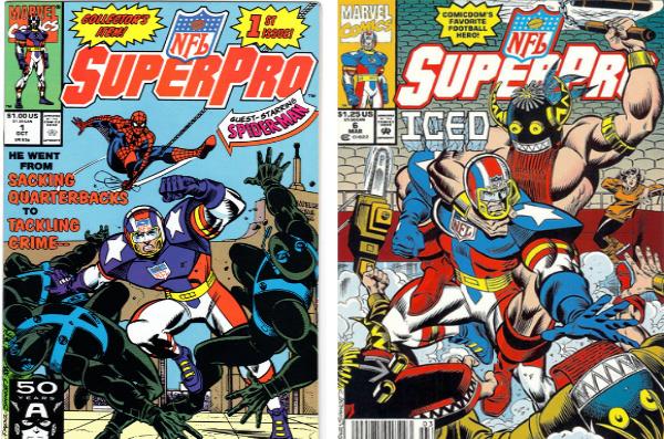Marvel publiera 12 numéros de NFL SuperPro entre 1991 et 1992