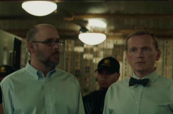 Le cameo d'Ed Brubaker (à gauche) dans Captain America
