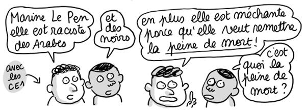 Extrait du billet Marine Le Pen (de mort)