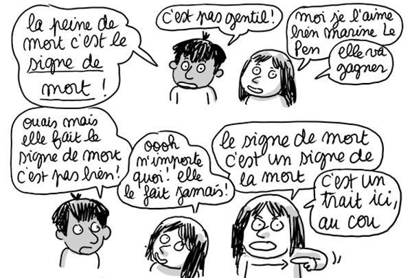 Extrait 2 du billet Marine Le Pen (de mort)