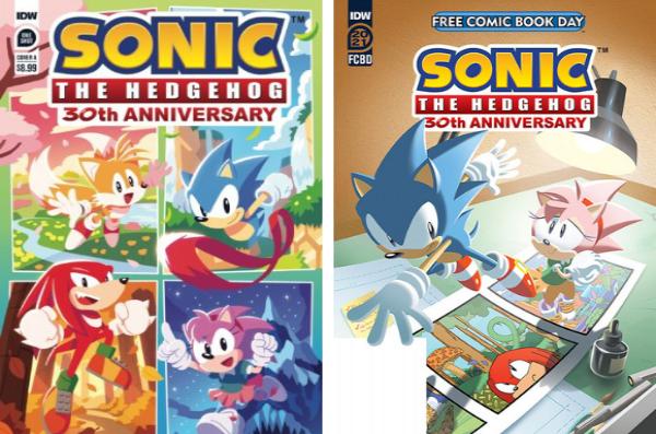 2 variants de couverture du prochain numéro inédit de Sonic