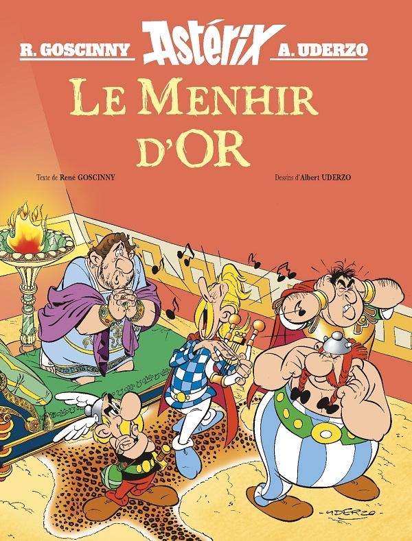 Le menhir d'Or rejoint la collection des albums illustrés Astérix