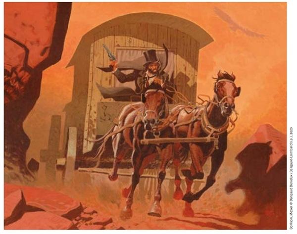 RALPH MEYER UNDERTAKER La Danse des vautours (T.2), Dargaud 2016 Peinture originale utilisée pour la couverture du tirage de luxe. Signée. Acrylique sur toile 81 × 101 cm (31,89 × 39,76 in.) 11 000 - 13 000 €