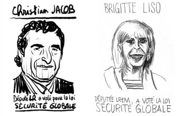« Vous souhaitez savoir si votre député a voté la loi Sécurité Globale ? Parcourez la liste de portraits ! »