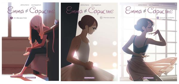 Les premiers tomes de la série Emma et Capucine