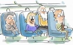 Professeur Moustache et la peur en avion