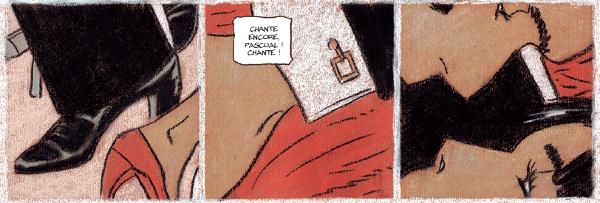 Extrait de Gran Cafe Tortoni (page hommage à l'album Tango de la série Corto Maltese)