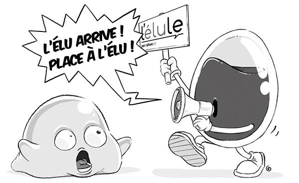 Ravis d'être élule, les auteurs de Bob et Blörb ont créé un dessin inédit !