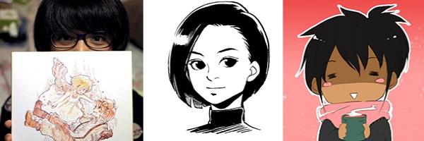 Portraits de Nicke, Chie Inudoh et Yami Shin