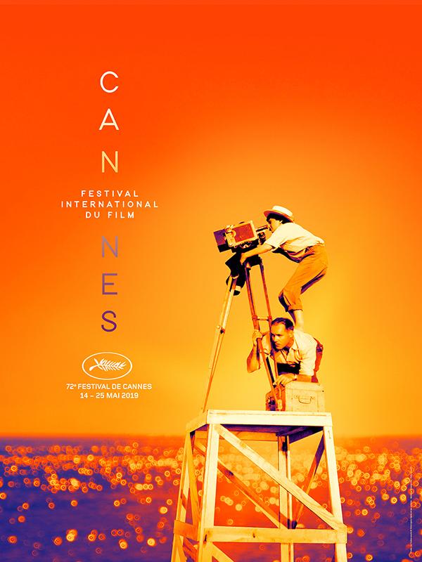 L'affiche de la 72e édition du Festival de Cannes, avec Agnès Varda à la caméra © Maxppp -