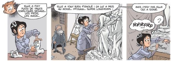 Extrait 1 de la planche sur Camille Claudel