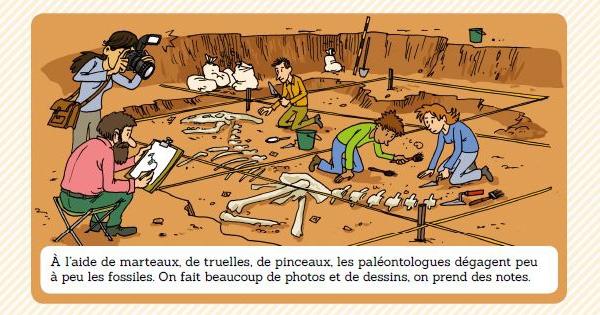 Texte d'Emmanuel Trédez et illustrations de Martin Desbat extrait de « Archidoc Les dinosaures »