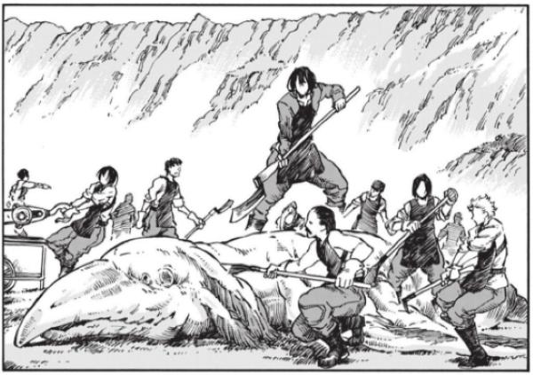 Le manga explore un peu le quotidien des explorateurs