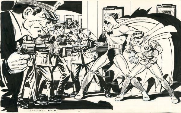 Batman et Robin évoluaient dans les pages des différents quotidiens des États-Unis