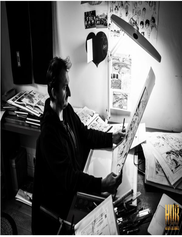 L'artiste Hub en action