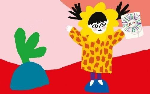 Les illustrations, vives, pleines de couleurs et pétillantes donnent envie de dessiner