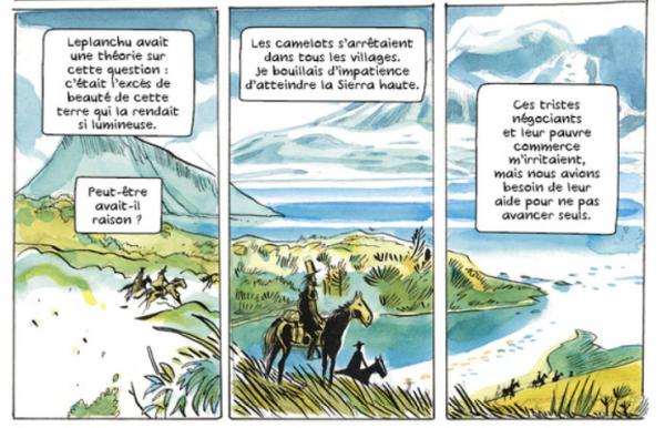 Le graphisme donne au périple une dimension hallucinée, à l'image de l'esprit fantasque du Gascon