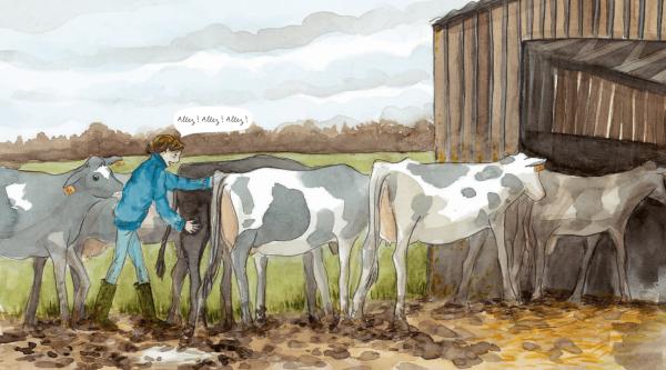 Xavier arrive pour aider sa sœur Emmanuelle à vendre la ferme
