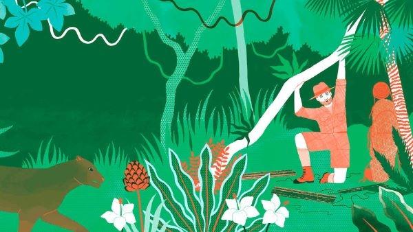 L'explorateur s'enfonce dans la jungle