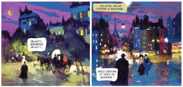 L'album nous promène dans les quartiers de Montmartre et du Moulin Rouge