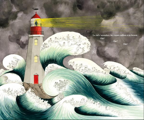 L'autrice nous embarque dans les derniers jours d'habitations de ce phare au gré des tempêtes