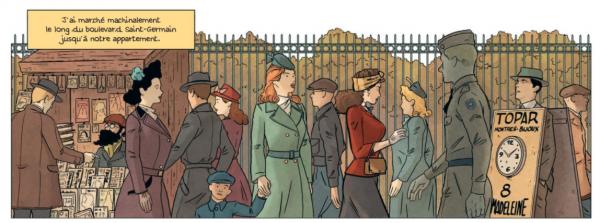 Le dessin « ligne claire » de Van Der Zuiden représente avec élégance Paris occupé