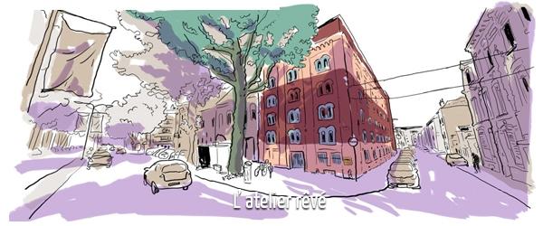 Paul Bona en 5 dessins : l'atelier