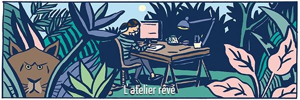 Elizabeth Holleville en 5 dessins : l'atelier rêvé