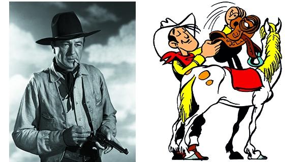 Gary Cooper et Lucky Luke dans ses premières années