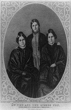 Photo des soeurs Fox de 1852