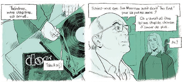 Théodore face au professeur Frawley