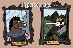 Tes-Loches en 5 dessins : le personnage