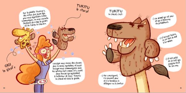 Découvrez Tukitu le chacal et Gigi la Girafe pour mieux communiquer