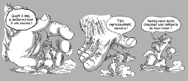 Illustration du Chat Botté revisité par Nancy Peña