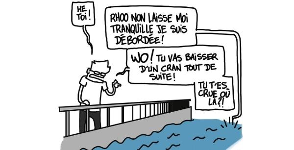 Eli tourne n'importe quel sujet avec humour et spiritualité, même les dernières inondations de Paris !