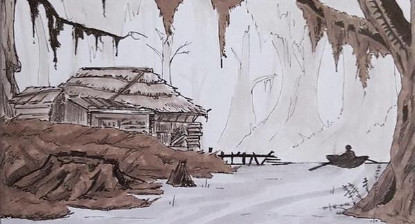Vue sur le bayou par Théo Tchong