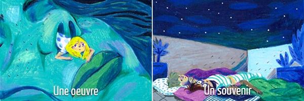 Si Cléo était une œuvre, elle serait la BD Jolies Ténèbres ; un souvenir, les nuits passées à la belle étoile durant son enfance !