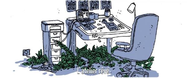 Avant rendre visite à Quentin Rigaud dans son atelier, allez sur son blog !