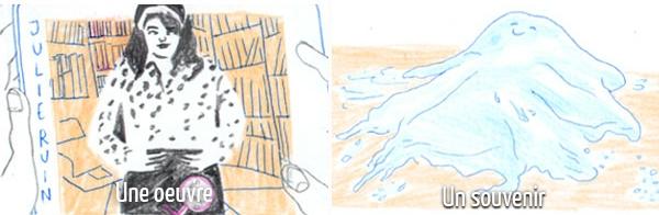 Si Justine Sarlat était une oeuvre, elle serait l'album The Julie Ruin de Kathleen Hanna ; un souvenir, un rêve où elle se muait en une créature d'eau !