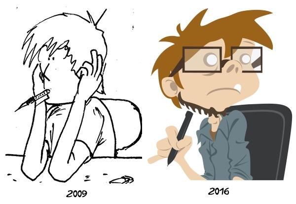 En sept ans, le trait de Tomasz K. a bien évolué !