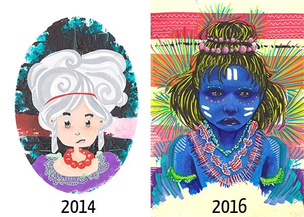 En deux ans, le dessin de Choléoptère a bien évolué !